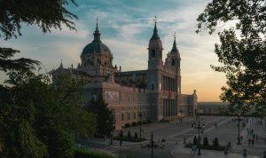 Fotografía de Madrid en el atardecer